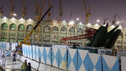 This must be the most strange event of this century, if we could call this strange, because there are a lot of other things that might follow from this unforseen event. You see, how come that a crane topples on the Grand Mosque in Mecca's Saudi A.
