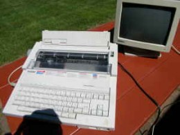 The Brother word-processor.  Preceded computers as a writer's tool.
