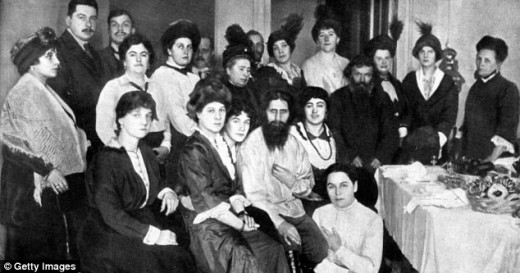 """Rasputin and a few of his """"sexy girls"""", and """"Boss Ladies"""" as he liked to call them"""