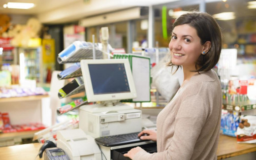 convenient store click in front of cash register