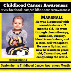September is Childhood Cancer Awarness Month