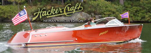 Neiman Marcus 2011 Edition Hacker Craft mahogany speed boat