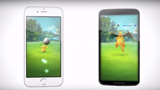 The only screenshots available for Pokemon GO, as of 9/12/2015