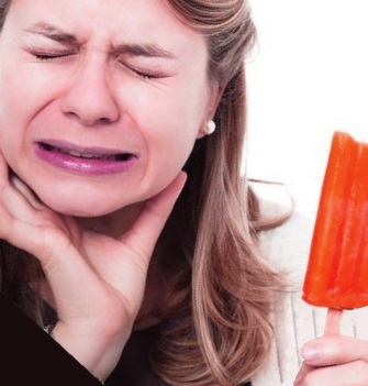 Mild tooth sensitivity goes away quickly but can make you feel something's not right