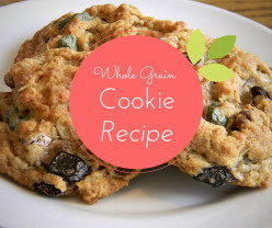 Whole grain Cookies made from whole bean vanilla