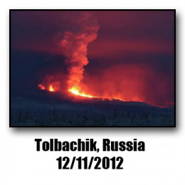 Located on the Eastern seaboard of Siberia, the Tolbachik Volcano is considered part of the Ring of Fire.