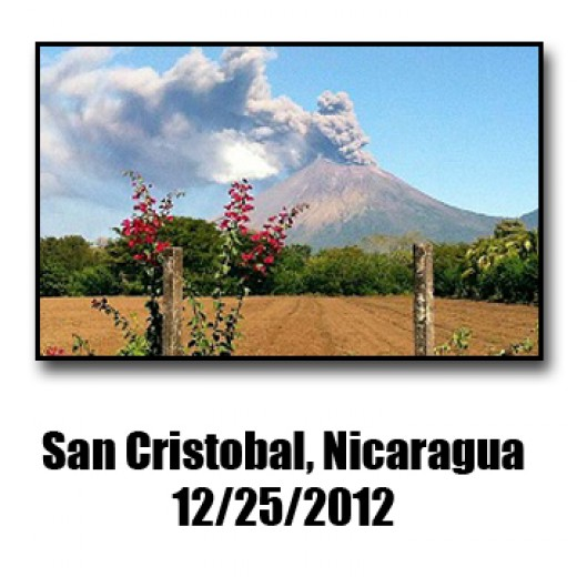 Rising from sea level this impressive volcano erupted right after Christmas 2012 and is still going strong.