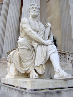 Tacitus (AD 56-AD117) outside the Austrian Parliament Building