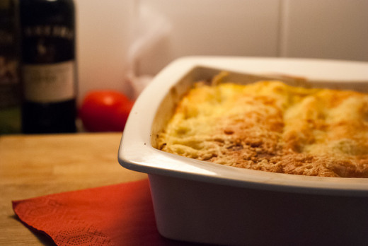 A delicious lasagne ready to eat.