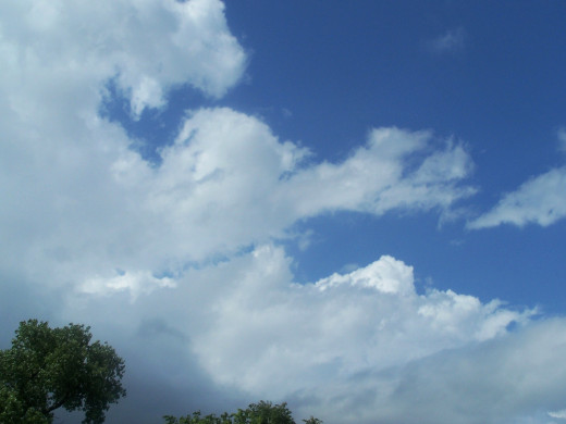 Blue skies, billowing clouds...