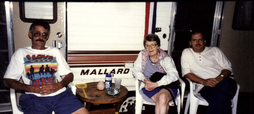 My late brother Al and mother Ruth at my brothers camp in Rose Point.  He loved the stuffing balls.