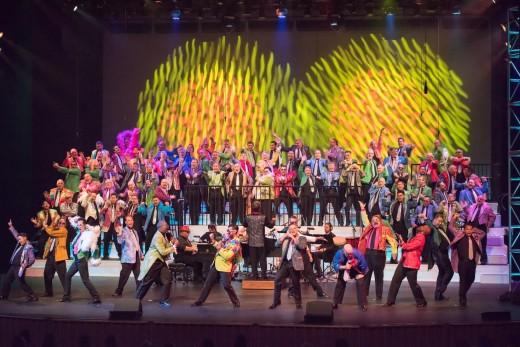 """MenAlive performing from their Elton John musical performance, """"The One: The Music of Elton John."""""""