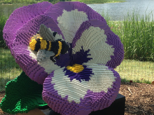 Flower lego sculpture at the Morton Arboretum