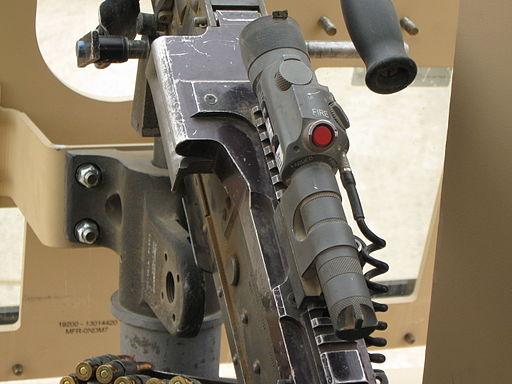 A Dazzler mounted on a M240B machine gun