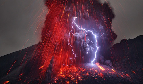 The recent eruption of Japan's Kuyushu Volcano shows an awesome display of nature.
