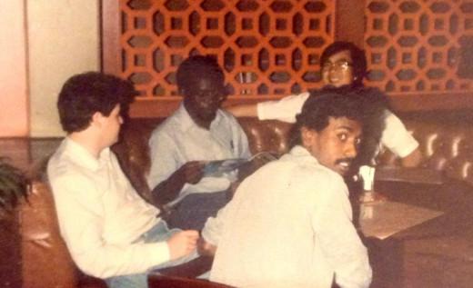 England, Jamaica, Taiwan and India representatives enjoying a chit-chat