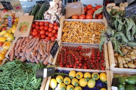 Veggies, veggies everywhere and not a leg of chicken