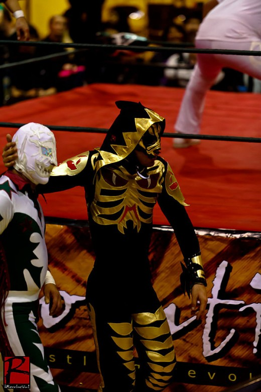 El Hijo del L.A. Park, La Parka's son. It runs in the family, this lucha stuff!