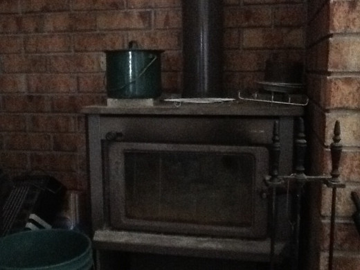 The fireplace and wood heater