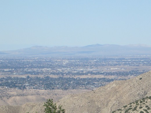 The view of Hesperia in the distance.
