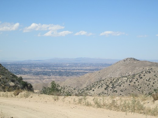 The view of the trail and Hesperia in the distance.