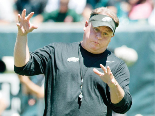Philadelphia Eagles Head Coach Chip Kelly Did not have a good night in Atlanta