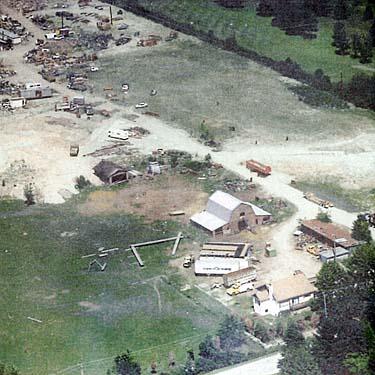 The Pickton farm in Port Coquitlam, British Columbia, while still in use pre-2002