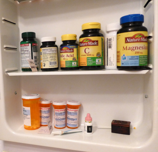 Start of day. You'll need two shelves of a medicine cabinet.