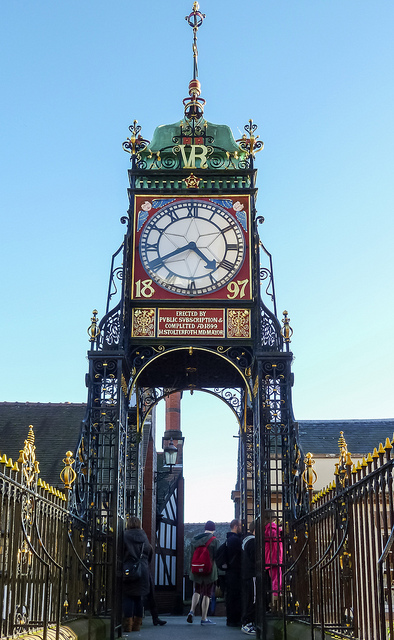 Right in Chester city centre, Eastgate clock is a famous landmark