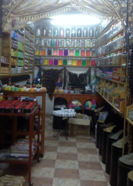 Develop your haggling skills at Marrakech's open-air market spice shops