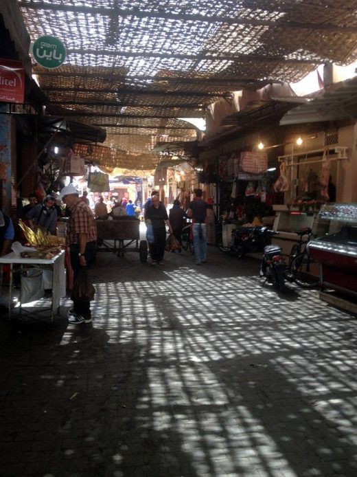 Walking through Marrakech