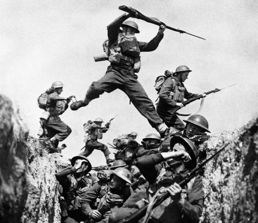 A photo from World War II