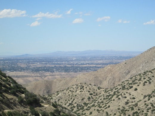 Looking down at Hesperia and the mountains in the distance.