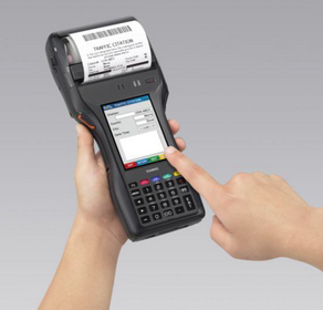 Handheld device for tickets