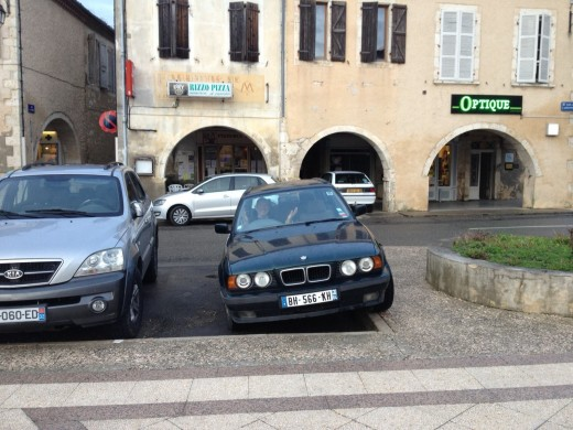 In some countries pavements are for pedestrians, in France they are used as much by cars as they are by people!