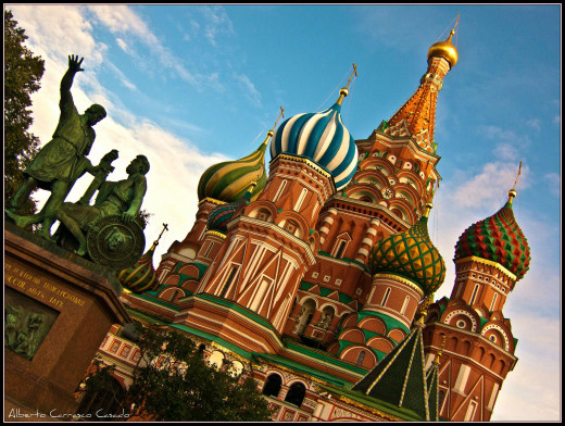 St. Basil's Cathedral is one of the many tourist spots that can be seen in Moscow no matter what time of year.