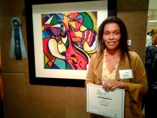 Silver Award winner at Brush With Success Art Exhibit at the Art Gallery of Viera