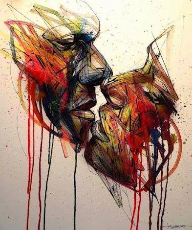 """""""The Kiss"""", David Walker, Street Art in London Town."""