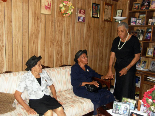 Matriarchs of the family getting together before Uncle Casley's funeral