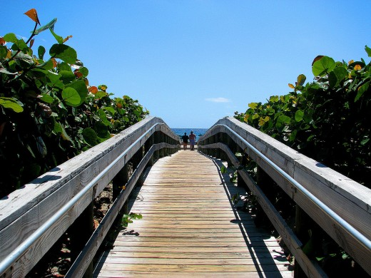 Boardwalks provide easy access to the beach.