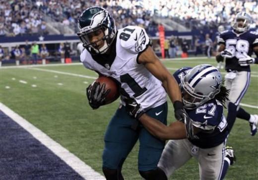 Philadelphia Eagles WR Jordan Matthews beating Dallas Cowboys safety JJ Wilcox