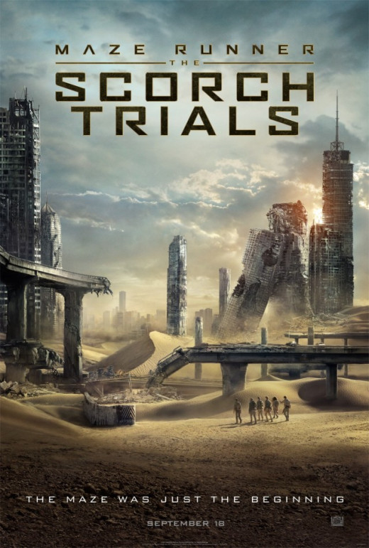 The Film Poster for Maze Runner: The Scorch Trials