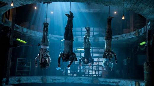 Gladers being strung upside down