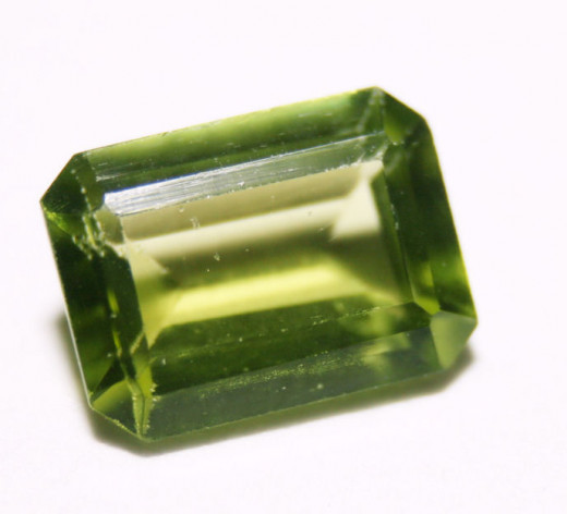August, the Peridot, is olive green and means purity.