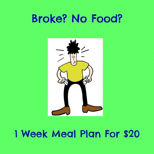 Broke? No Food? 1 Week Meal Plan for $20 | Delishably