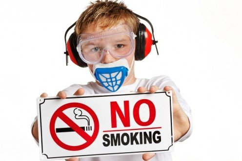 The UK recently banned smoking in cars with children