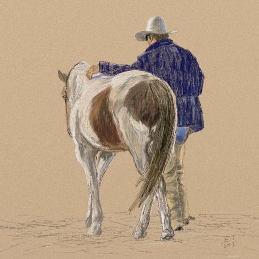 'A Cowboy's Best Friend'  Prints available at http://www.imagekind.com/artists/EllieTaylorArtist