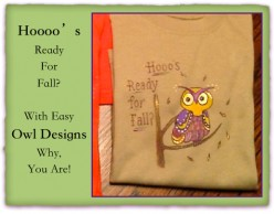Sulky Transfer Pens for Painting Owl Designs on Tee Shirts