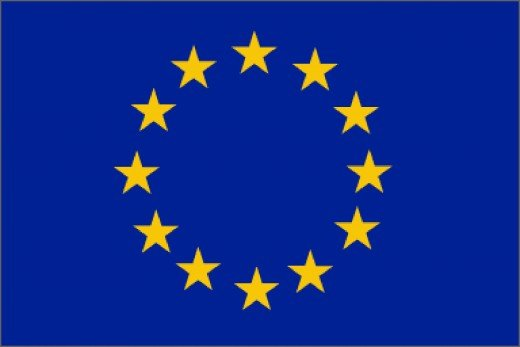 The EU flag which France is a founding member of.
