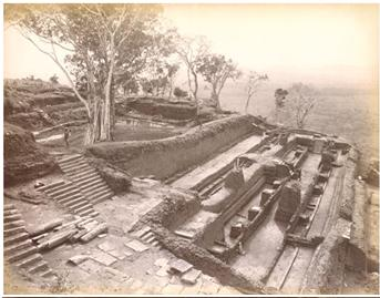 A photo of Sigiriya taken in 1800